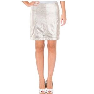 Free People metallic night out mini skirt